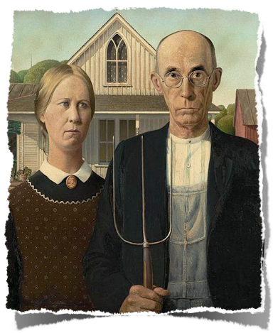 An American Gothic Parody Visual Art And Language Arts